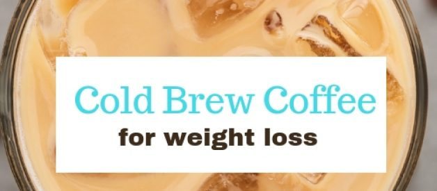 foamy glass of cold brew coffee with MCT oil and collagen