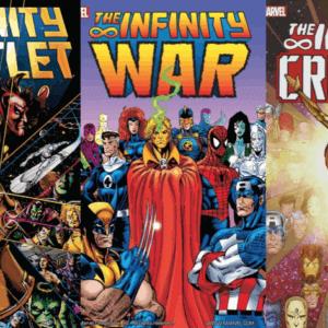 infinity saga comic books covers