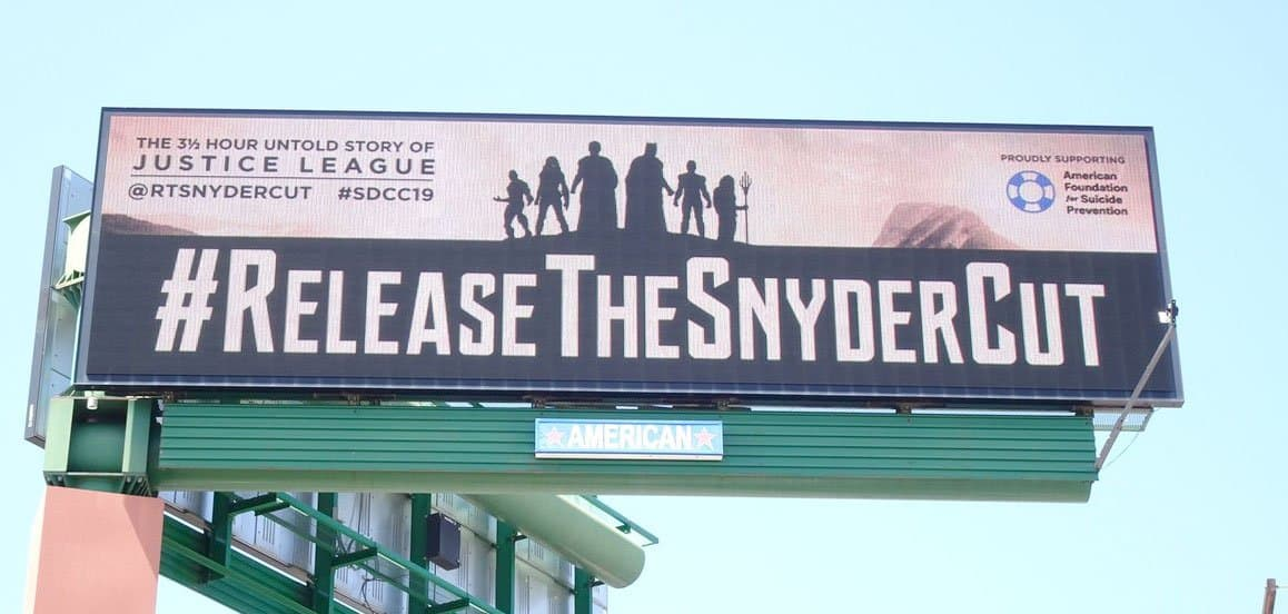 Billboard of #ReleaseTheSnyderCut