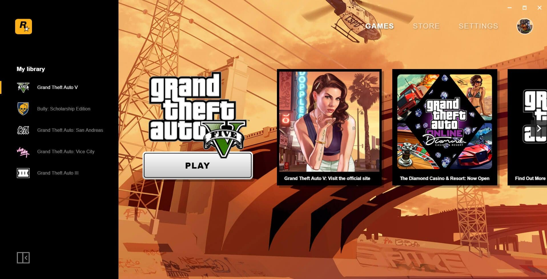 Rockstar Games Launcher Title Screen