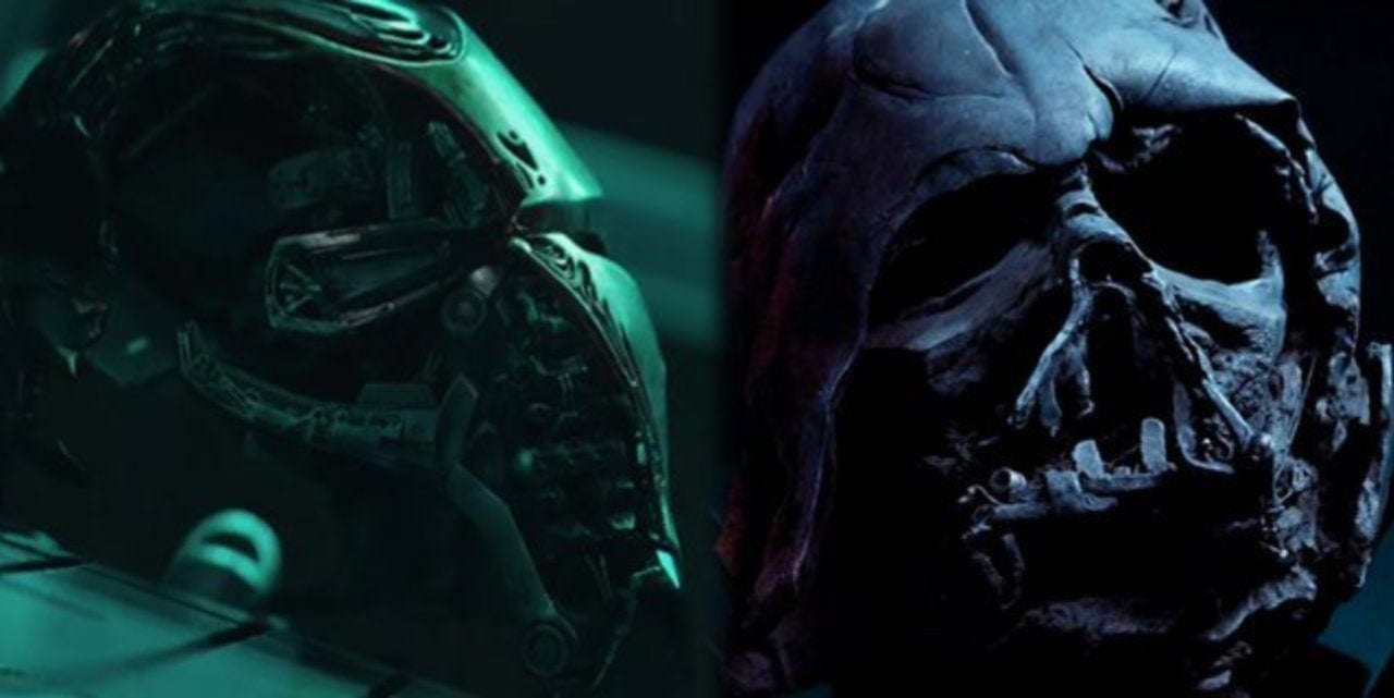 Marvel vs Star Wars featured Iron Man and Darth Vader mask