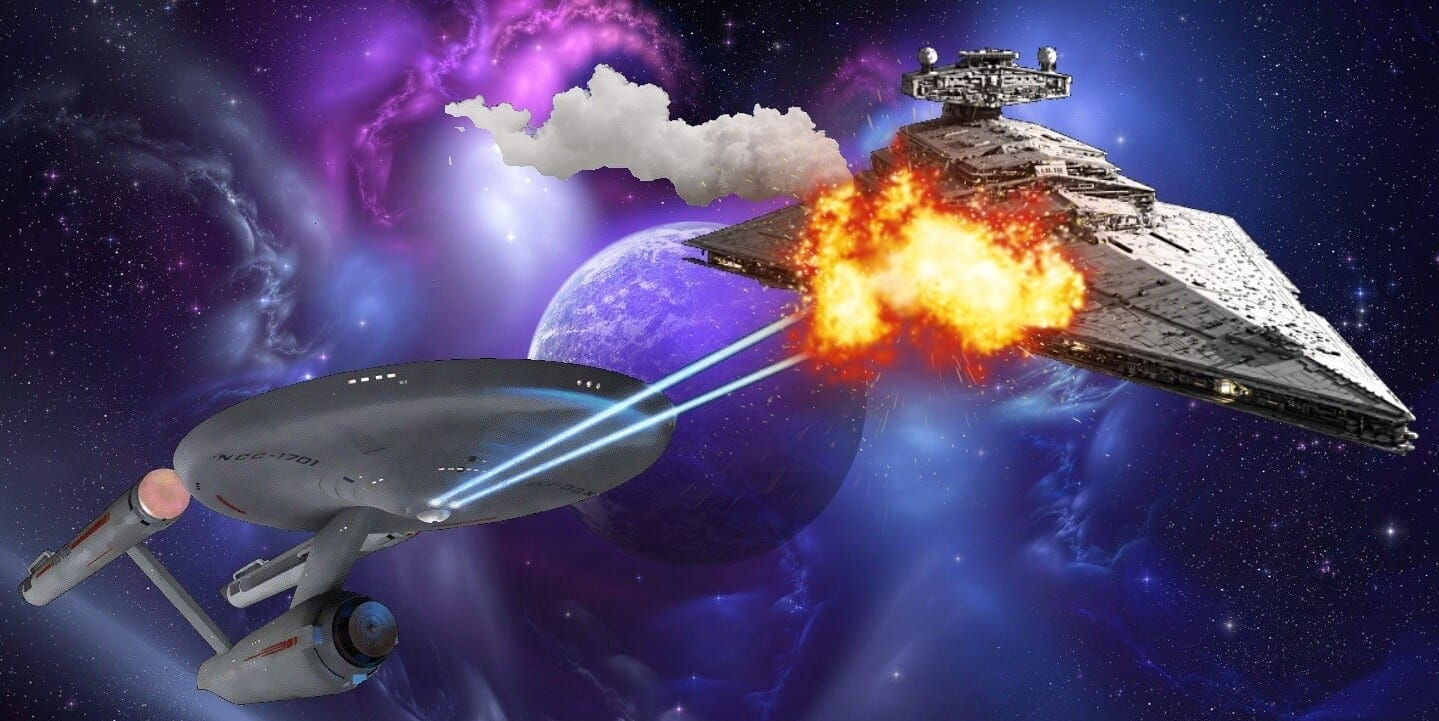 Star Wars Star Trek Rivalry Featured Image