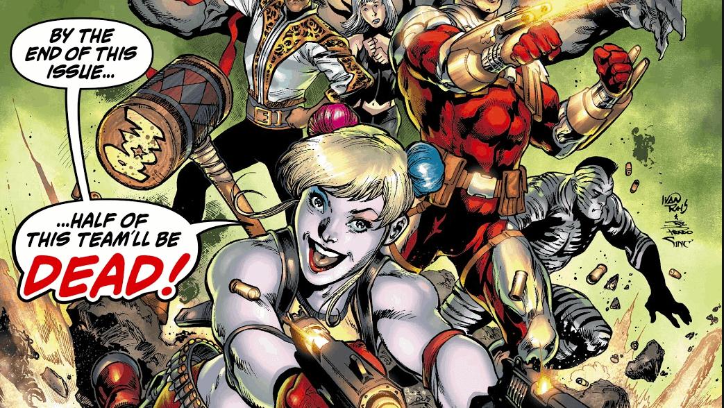 Harley Quinn, Deadshot, King Shark, Cavalier, Magpie, Zebra-Man