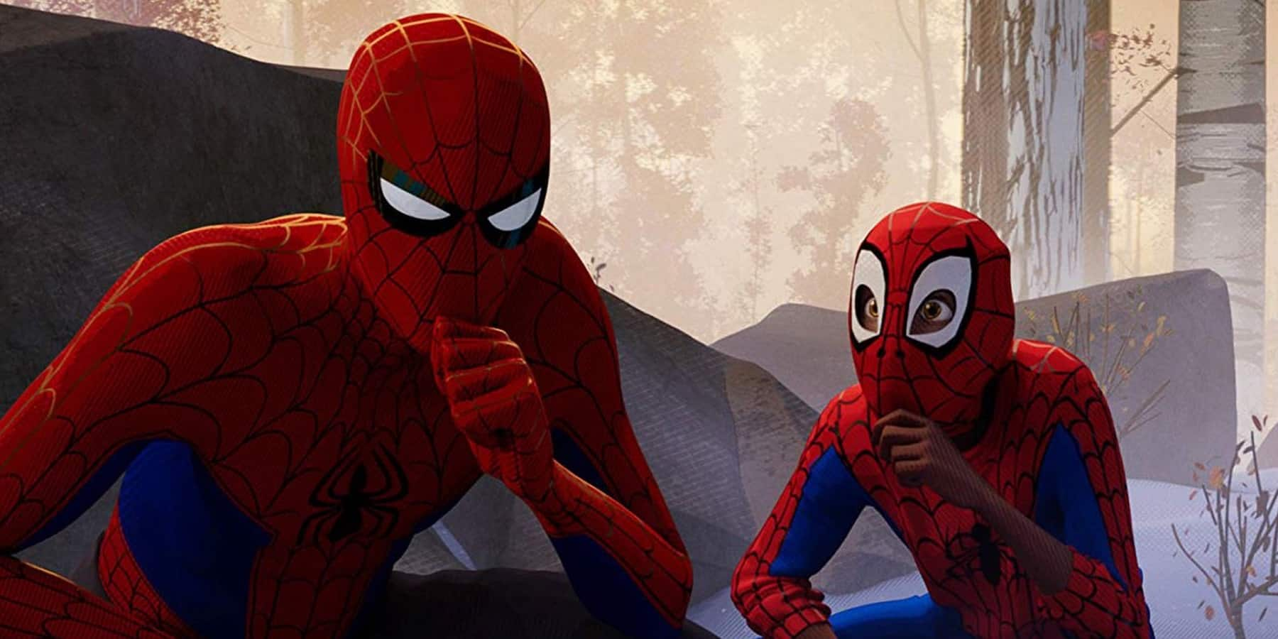 Tom Holland's Spider-Man Venom 2 Into the Spider-Verse Miles Peter B. Parker thinking