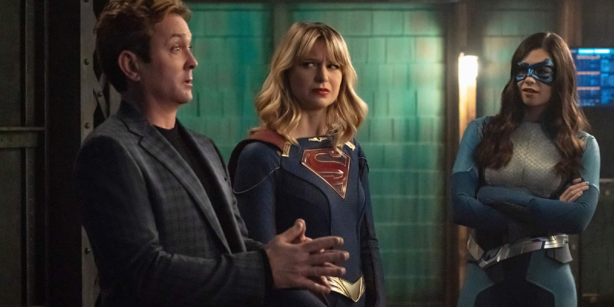 SUpergirl 100th Episode Thomas Lennon Melissa Benoist Nicole Maines Tower of Justice