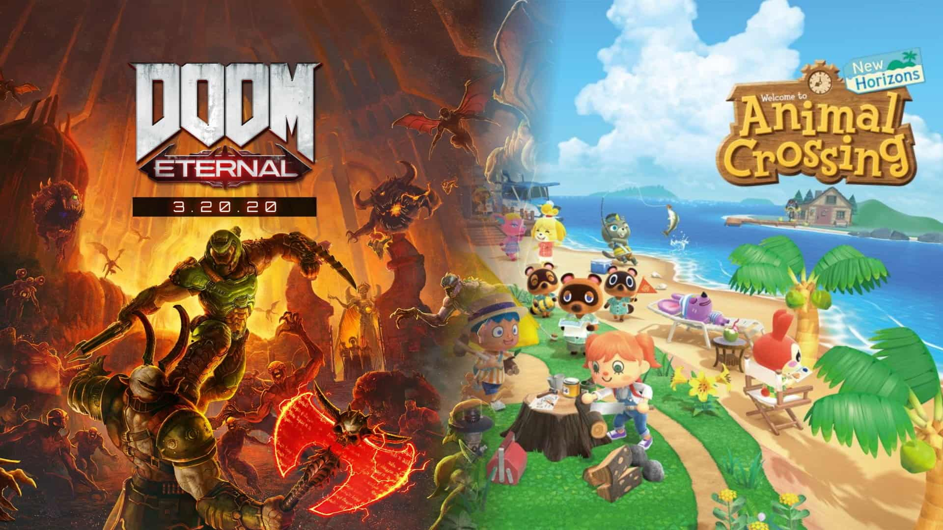 doom eternal and animal crossing