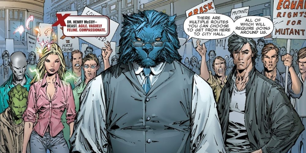 Beast, X-Men, Protests