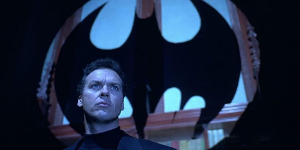 michael keaton in talks to play batman again in dceu flash bat signal