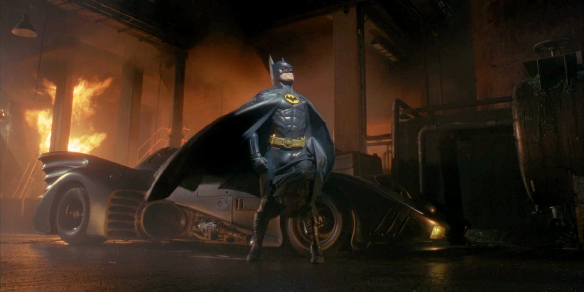 michael keaton in talks to play batman again in dceu flash hero bat pose