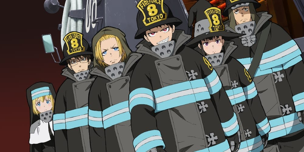 Fire Force anime season featured.