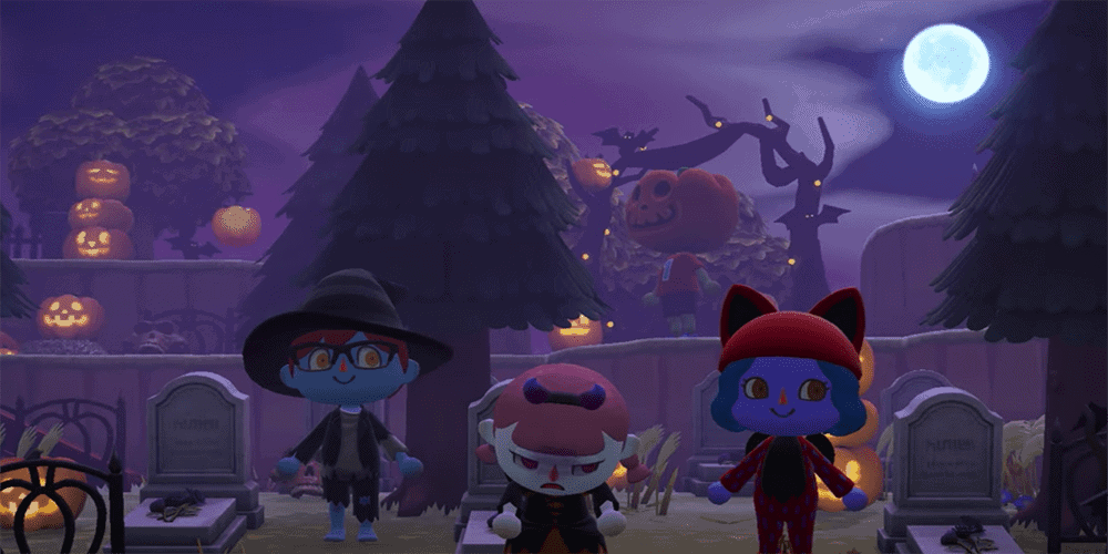 animal crossing halloween update
