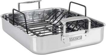 1. Viking Culinary 3-Ply Stainless Steel Roasting Pan