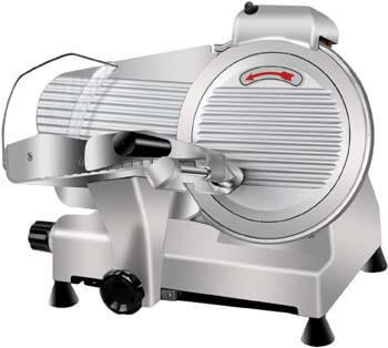 2. Super Deal Commercial Stainless Steel Semi-Auto Meat Slicer