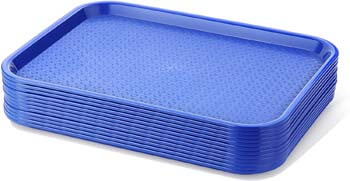 1. New Star Foodservice 24364 Blue Plastic Fast Food Tray, 10 by 14-Inch, Set of 12