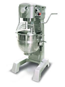 9. Omcan 20442 commercial 30qt GENERAL PURPOSE Mixer with Guard 3 attachments ETL