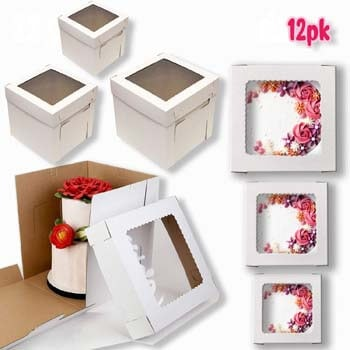 10. VTPT Ecom Cake Boxes with Window