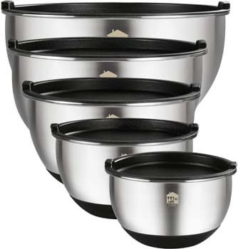 7. Wildone Stainless Steel Nesting Mixing Bowls