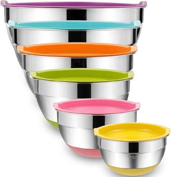5. Umite Chef Mixing Bowls with Airtight Lids