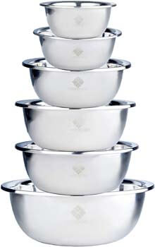 3. House of Ace's Quality Stainless Steel Mixing Bowls