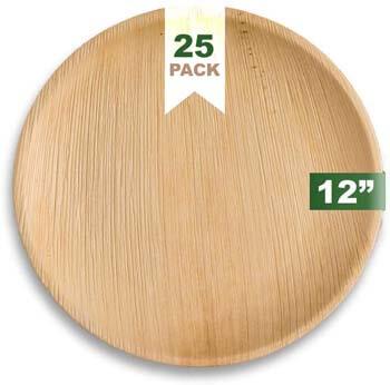 9. Ecozoi EXTRA LARGE Disposable Palm Leaf Plates