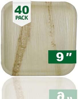 5. Palm Naki Square Palm Leaf Plates