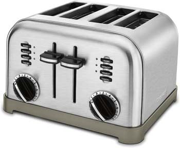 2. Cuisinart CPT-180P1 Metal Classic 4-Slice Toaster, Brushed Stainless