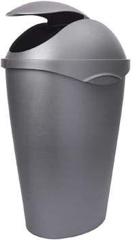 10. Umbra 086300-410, Nickel Swinger 12-Gallon Swing-Top Waste Can