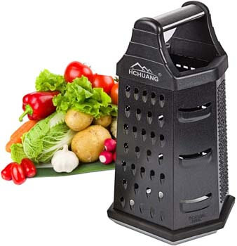 5. Professional Box Grater, Non-stick Coating Stainless Steel