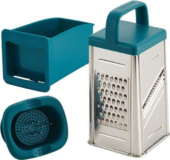 4. Rachael Ray Tools and Gadgets Stainless Steel Box Grater