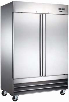 10. Peak Cold 2 Door Commercial Stainless Steel Freezer
