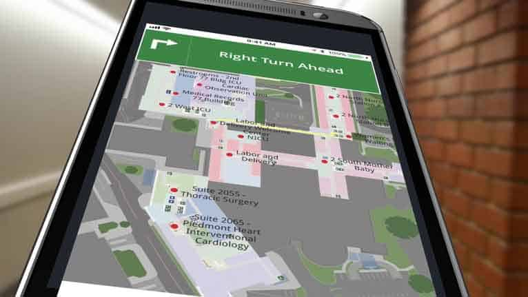 Gozio is best known for wayfinding—directions for navigating hospital campuses.
