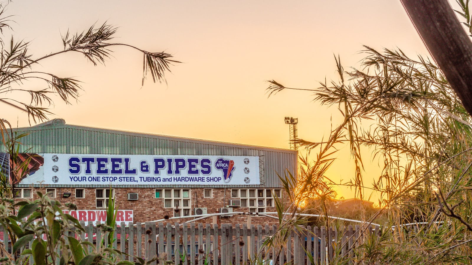Steel and Pipes for Africa Signage