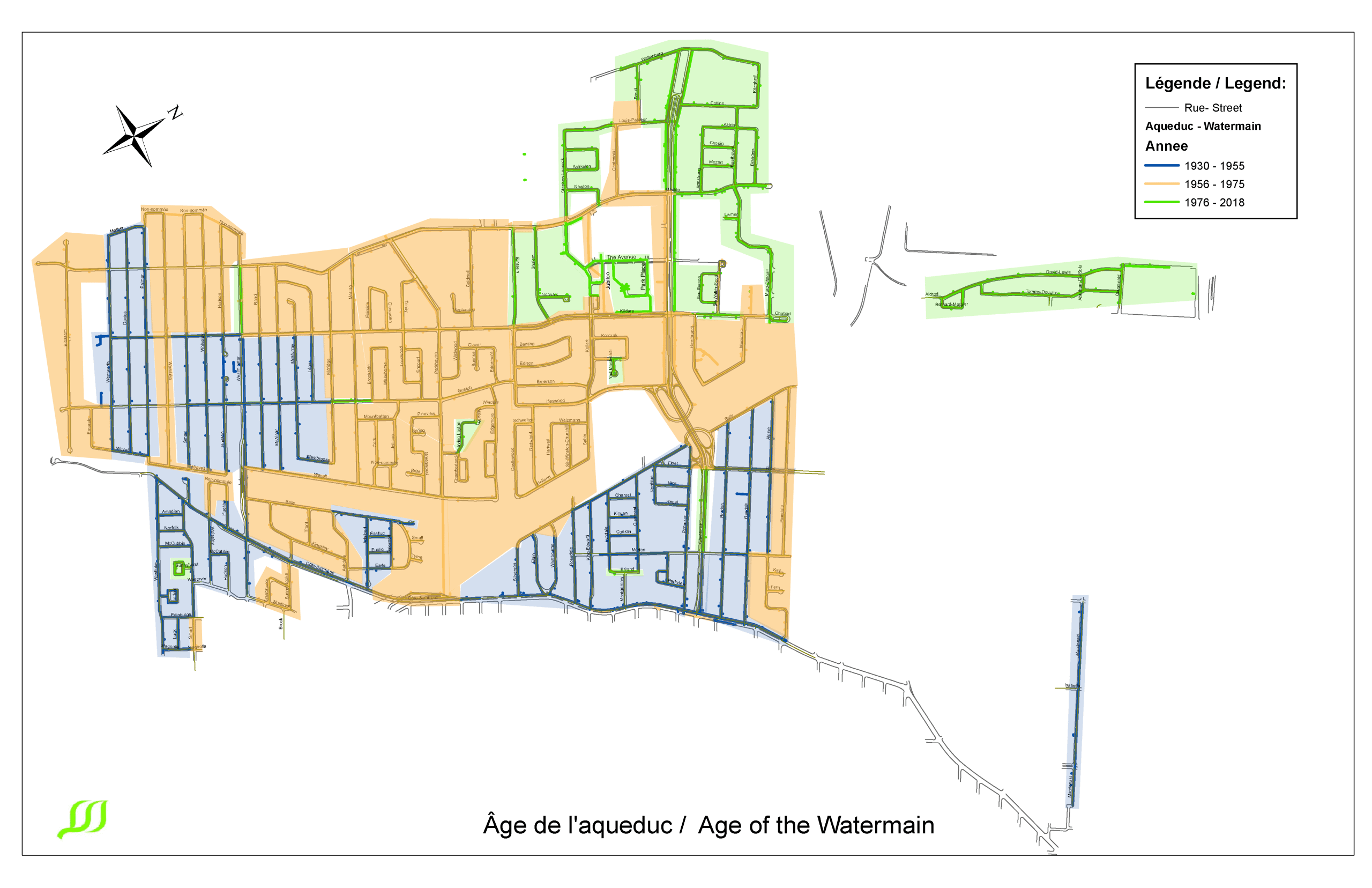 Age of the watermain