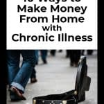 10 ways to make money from home with chronic illness (image of guitar case) Counting My Spoons