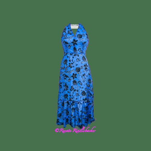 Abendkleid_Blau_Blumen