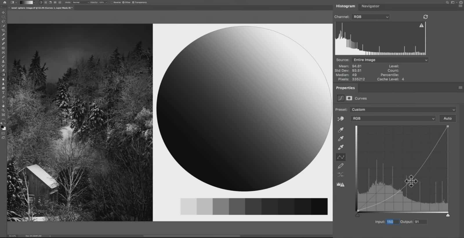 The Curves Tool to Select Darker Tones -  CreativeRAW
