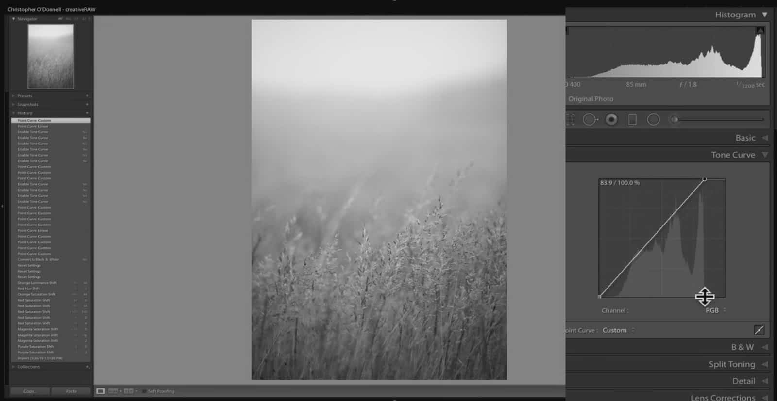 Changing Brightest Tone in Lightroom - CreativeRAW