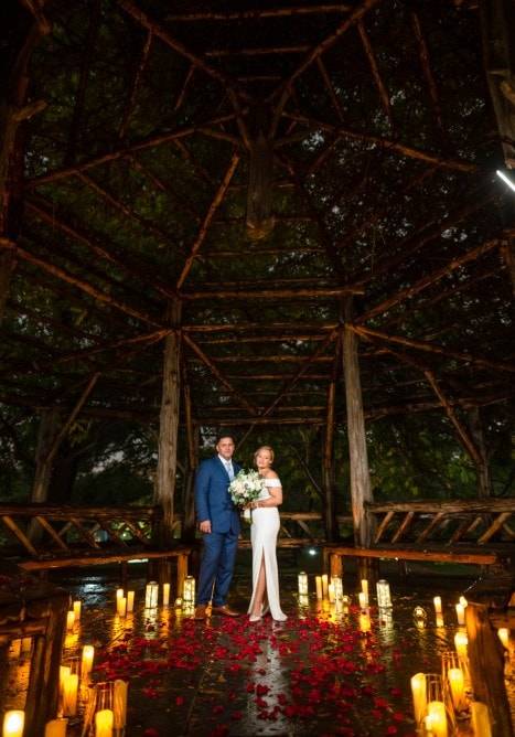 Photo 3 Sharona and Gilberto vow renewal candlelight ceremony in Central Park.