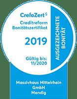 Crefo Zertifikat Massivhaus Mittelrhein