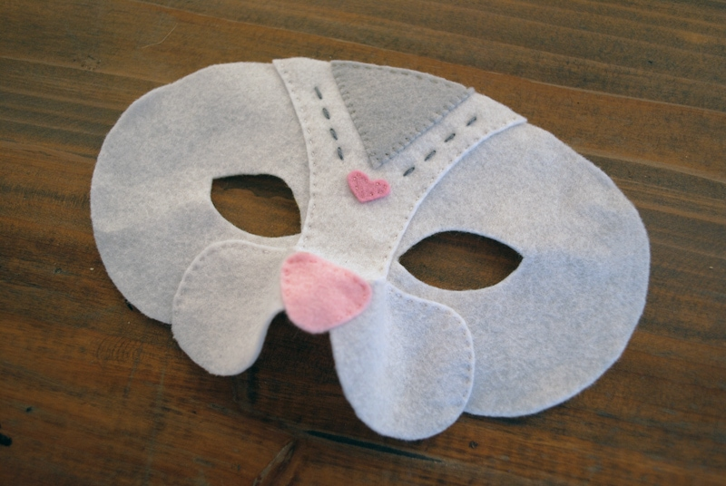 felt cat mask sewing tutorial