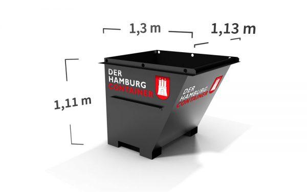 Container mit 1 kubikmeter Fassungsvermögen