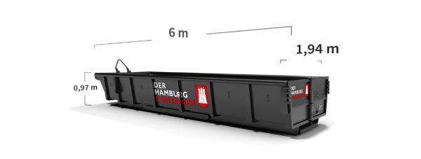 8 kubikmeter abrollcontainer
