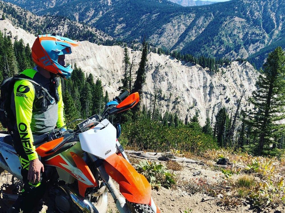 backcountry dirt bike riding