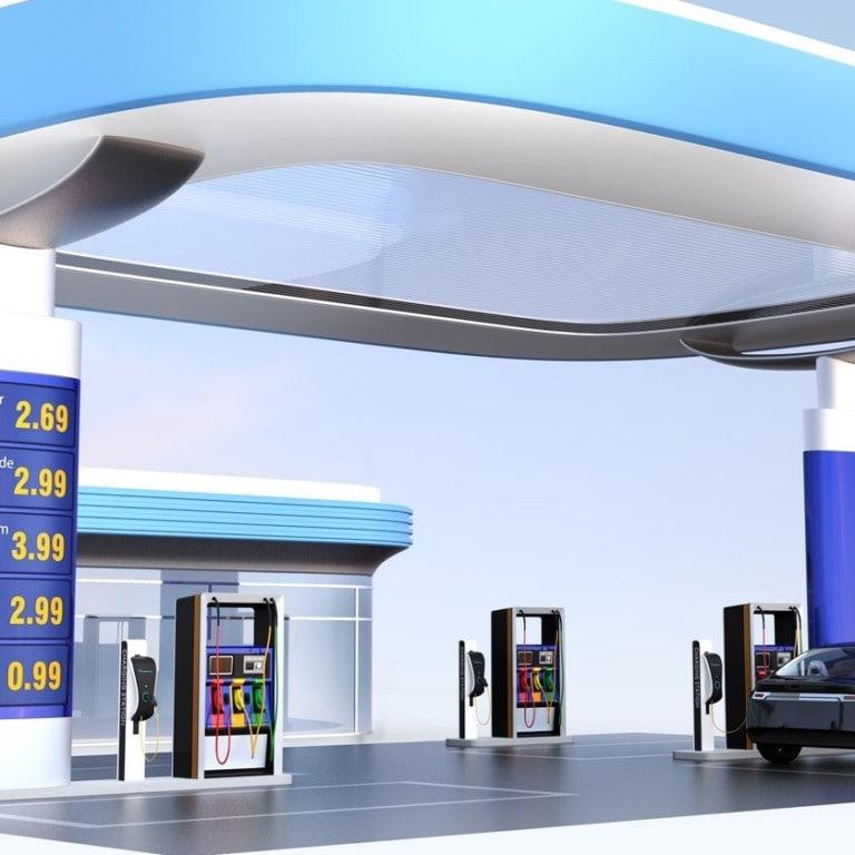 Petrol stations EV charging