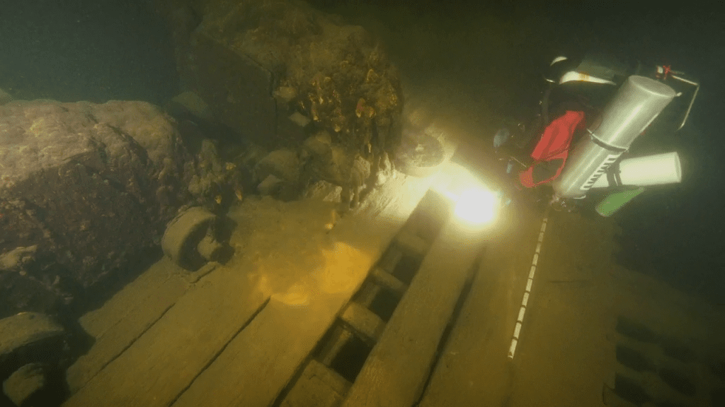 Why is the shipwreck intact?