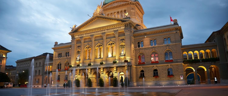 Bundeshaus in Abendstimmung