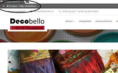 certificado de seguridad en la web en Málaga