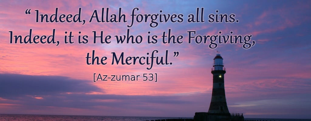 Allah forgives all sins, verse, beacon of light