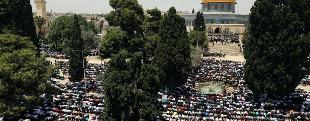 Al-Aqsa Friday (Jumu'ah) prayer.