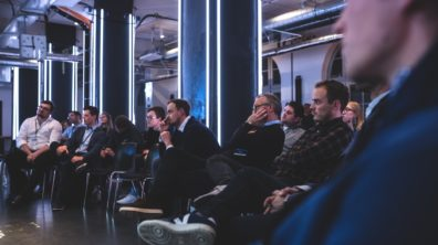 Photo from an Investor Day event with Wayra Germany. Partners can host an event in our locations.